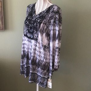 Tie dye embroidery tunic from Kohls
